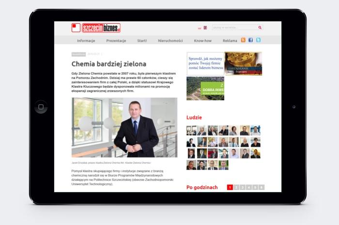 O klastrze na portalu biznesowym