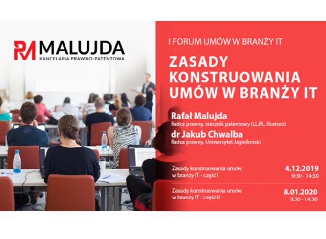 (Polski) Zasady konstruowania umów w branży IT – szkolenie dla  przedsiębiorców zlecających usługi związane rozwiązaniami informatycznymi w swoich firmach