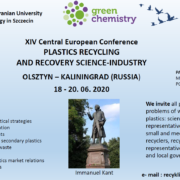 "XIV Central European Conference ""Plastic recycling and recovery science-industry"""