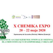 X CHEMIKA EXPO – 20-22 maja 2020r. Szczecin-Malmö