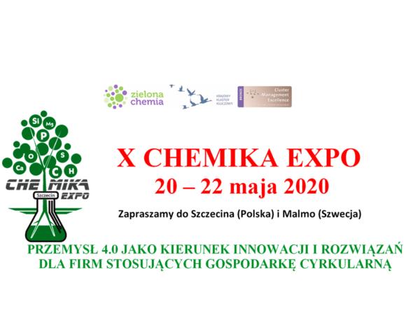 (Polski) X CHEMIKA EXPO – 20-22 maja 2020r. Szczecin-Malmö