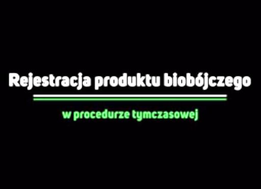 (Polski) Rejestracja produktu biobójczego w procedurze tymczasowej