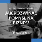 (Polski) Zaproszenie na dyżur ekspercki on-line: Jak rozwinąć pomysł na biznes?
