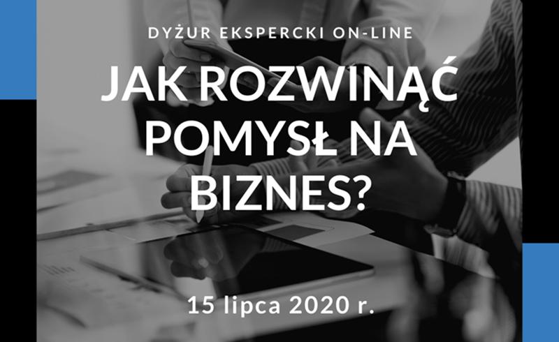 Zaproszenie na dyżur ekspercki on-line: Jak rozwinąć pomysł na biznes?