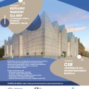 Warsztaty nt. innowacji na rzecz zrównoważonego rozwoju i CSR dla przedsiębiorstw z zachodniopomorskiego – 18.11.2020