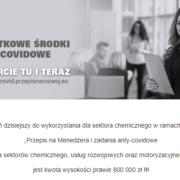 (Polski) Zwiększenie puli środków na zadania anty-covidowe dla sektora chemicznego